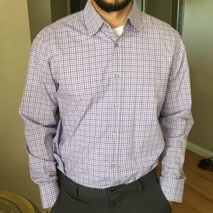 Purple BOSS button up shirt